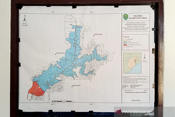 Pembangunan Bendungan di Sepaku Kabupaten Penajam masuk proyek strategis nasional