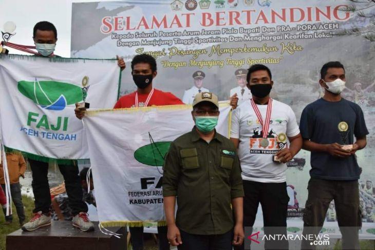 Borong enam medali emas, Aceh Tengah juara umum Pra Pora arung jeram