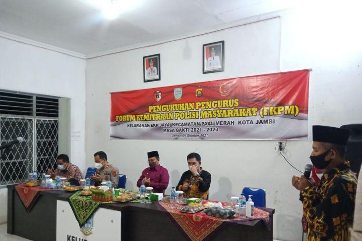 Forum Kemitraan Polisi Masyarakat (FKPM) Kota Jambi resmi dikukuhkan