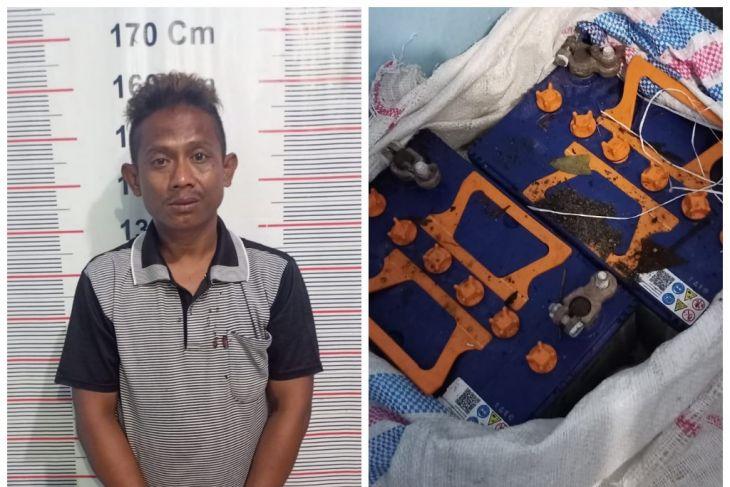 Polsek Kuala tangkap Petir pencuri dua batre mobil dan truk