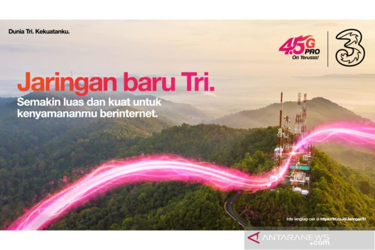 3 memperluas jaringan ke 70 desa terpencil di Indonesia