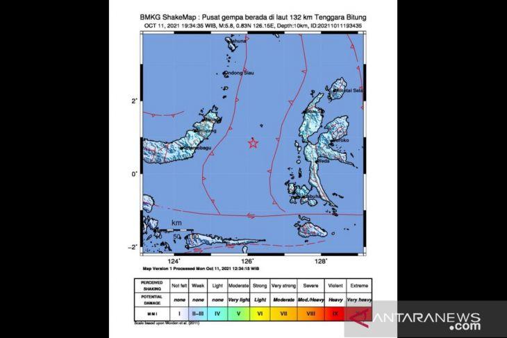 Gempa di Bitung akibat aktivitas lempeng Laut Maluku begini penjelasan BMKG