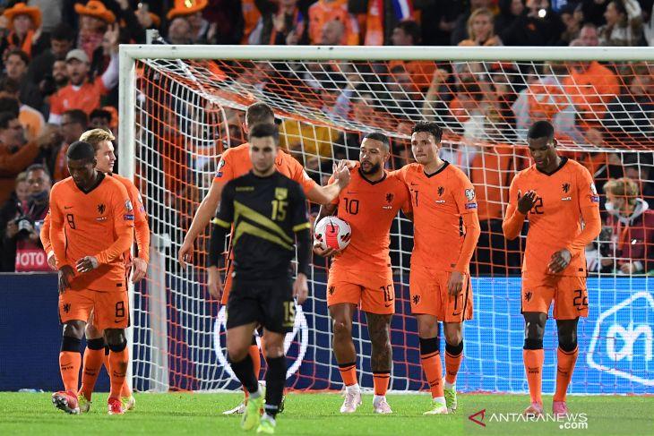Kualifikasi Piala Dunia 2022 Belanda bantai Gibraltar 6-0