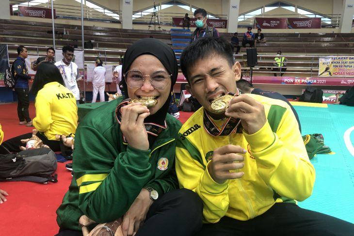 PON Papua - Pasangan suami istri Iqbal-Sarah raih emas cabang pencak silat