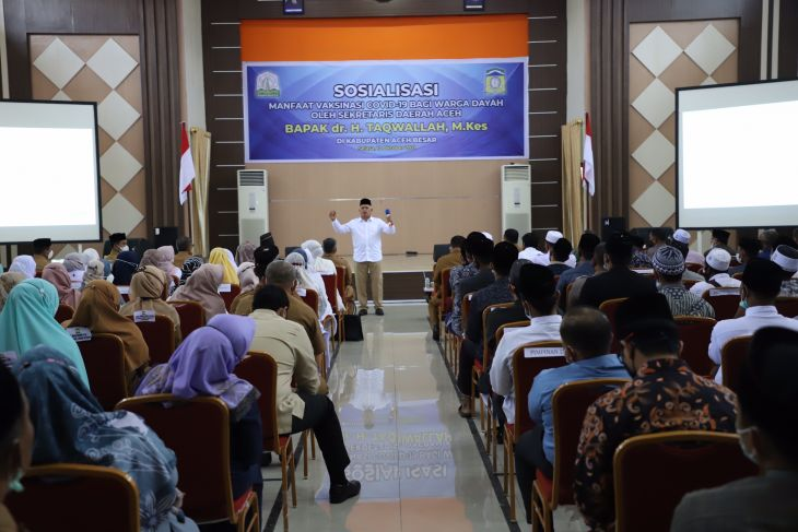 Aceh Besar sosialisasi manfaat vaksinasi untuk kalangan dayah