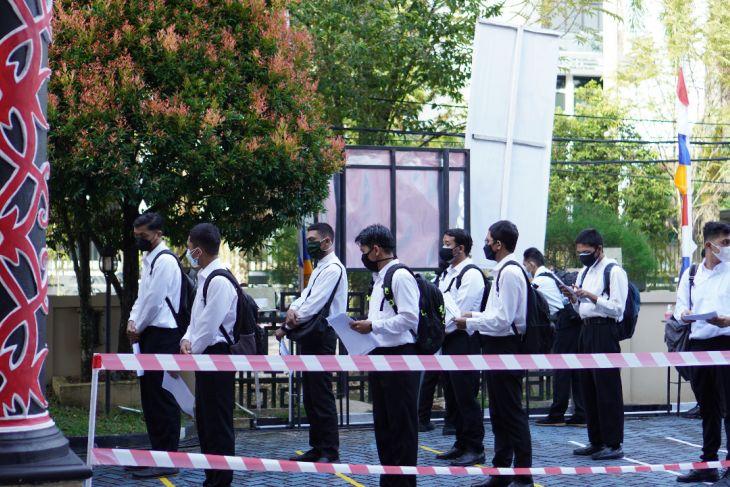 Kanwil Kemenkumham Kalbar terapkan prokes saat tes SKD CPNS