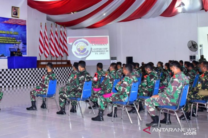 TNI AL latihan pengamanan VVIP di wilayah Sorong