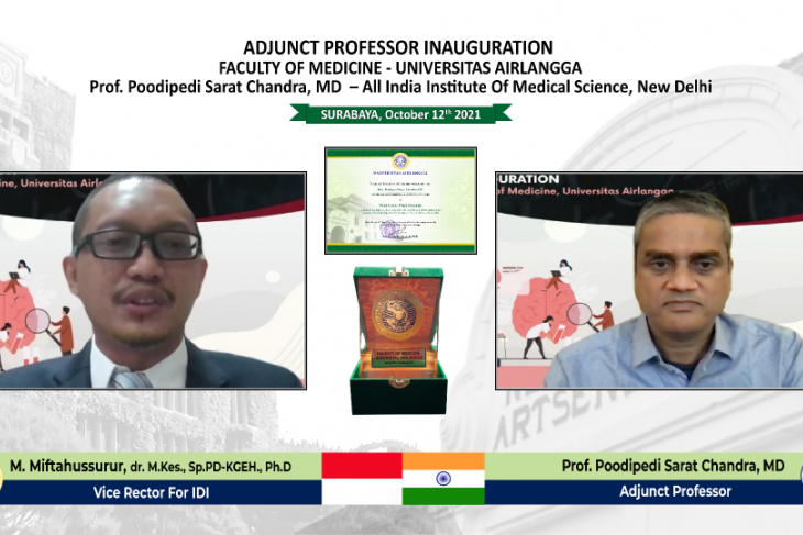FK Unair beri penghargaan Guru Besar Mitra pada ahli bedah saraf asal India