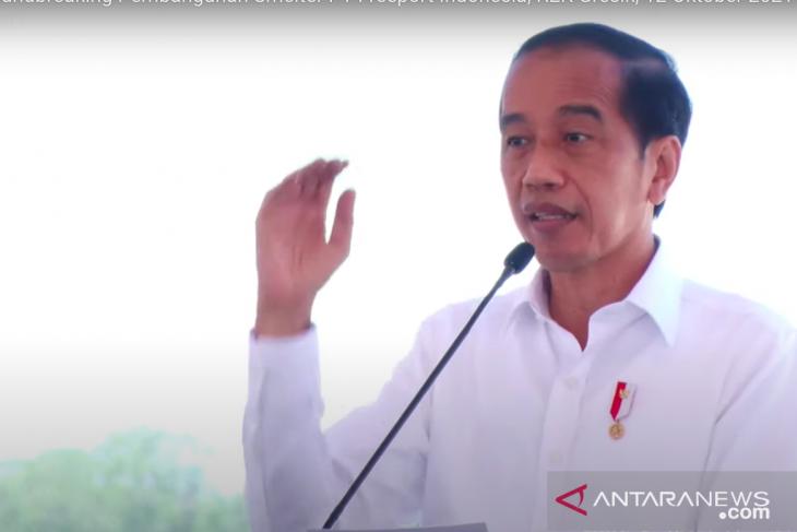 Widodo presides over Freeport Indonesia's smelter groundbreaking