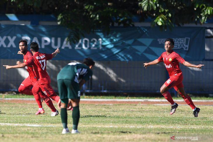 PON Papua - Jelang final sepak bola putra, Papua akui pertahanan Aceh kuat