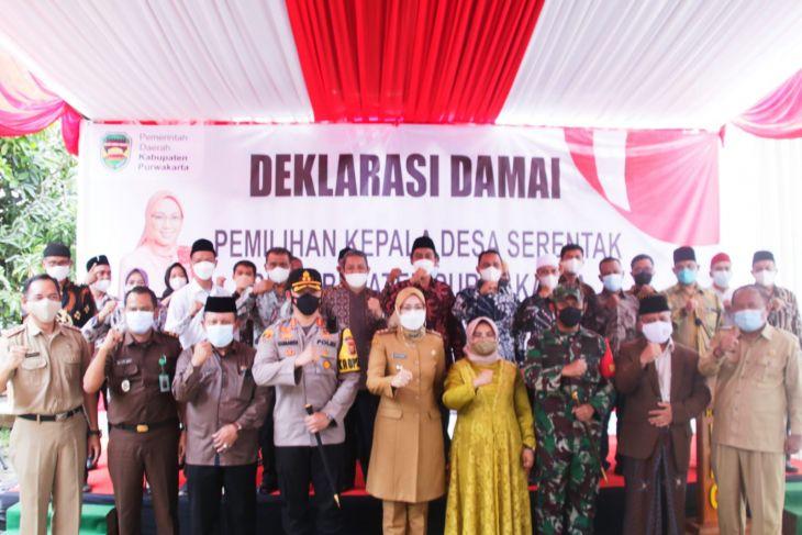 574 calon kepala desa di Purwakarta deklarasi damai siap menang siap kalah