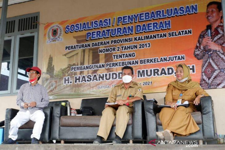 Hasanuddin Murad sosialisasikan Perda Izin Usaha Perkebunan