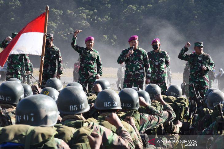 Kasal berikan motivasi kepada calon prajurit Marinir TNI AL