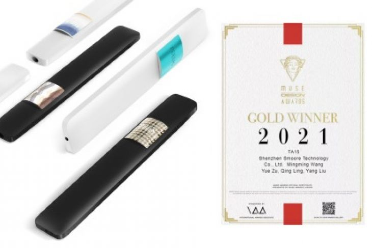SMOORE wins a 2021 MUSE Design Award for its disposable vape TA15