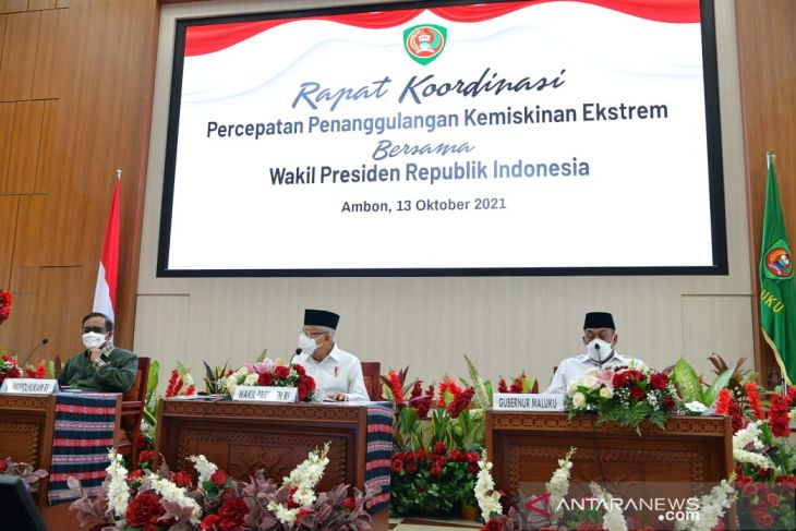 VP asks Maluku to focus poverty alleviation programs on five districts