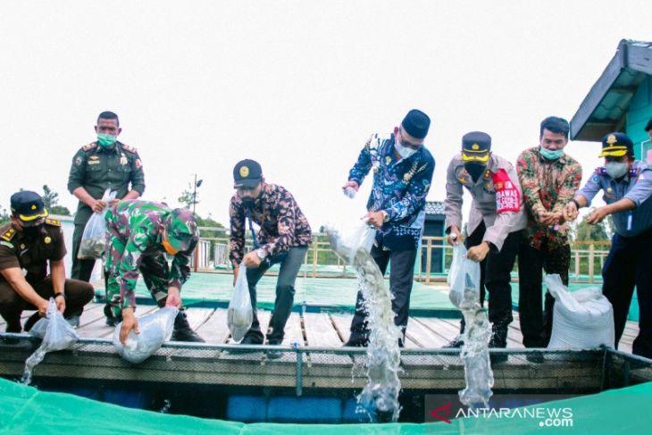 Tiga kelompok tani di Nagan Raya terima bantuan keramba jaring apung senilai Rp1,5 miliar