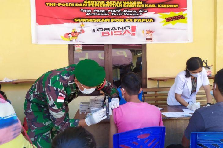 Warga Kampung Swakarsa dapat layanan serbuan vaksinasi TNI