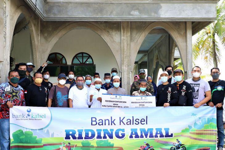 Riding amal Bank Kalsel telusur Desa Balimau tebar bantuan
