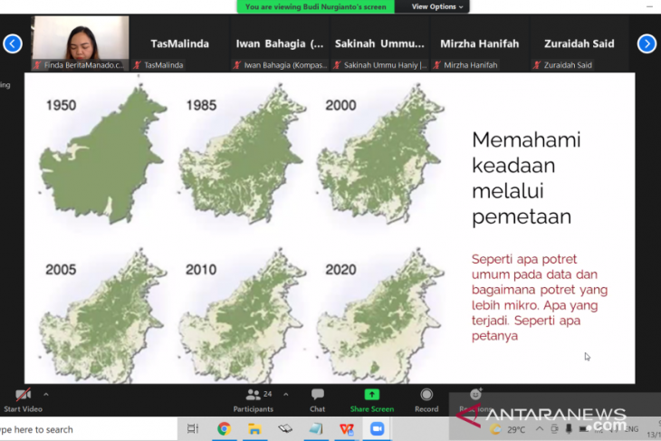 Jurnalis  belajar baca dan analisis kondisi hutan  dari citra satelit