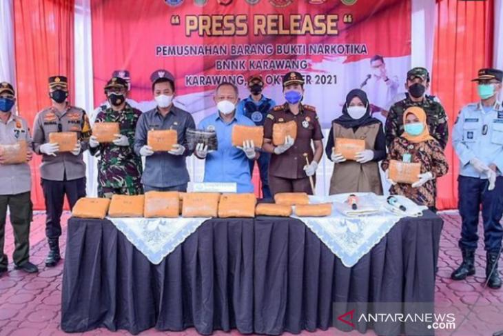 BNN sita 26 kilogram ganja dalam penggerebekan di pesisir utara Karawang