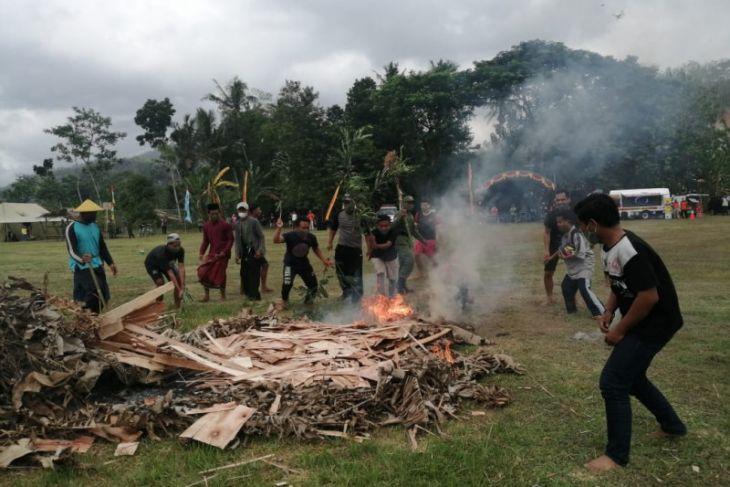 Satpol PP Jatim gelar simulasi kesiapsiagaan bencana di Pacitan