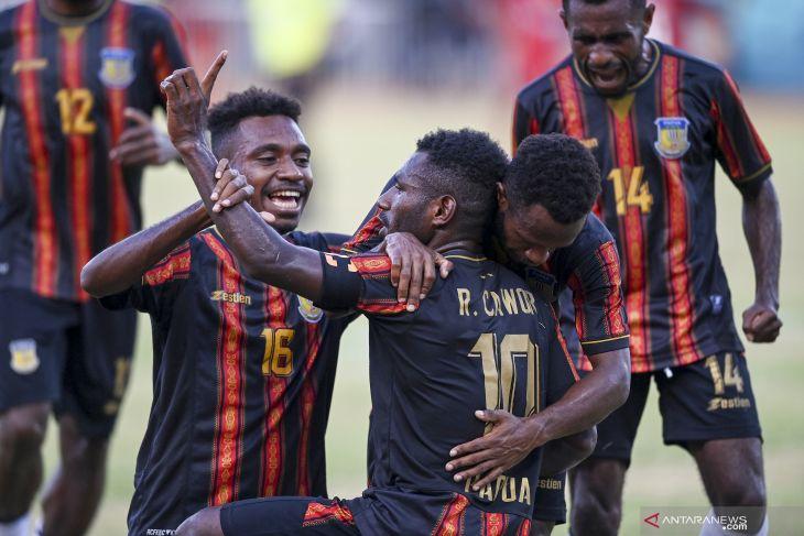 PON Papua - Papua raup emas sepak bola putra  usai bungkam Aceh