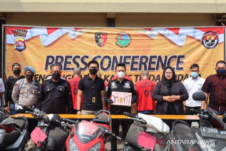 Polres Cilegon press conference hasil Ops Jaran Maung 2021