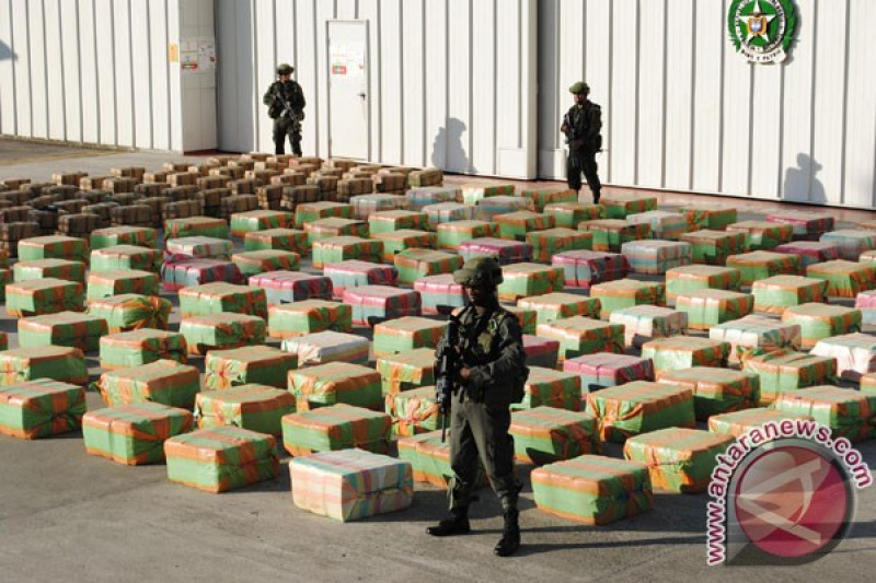 AS dan Kolombia gagalkan pengiriman 7,5 ton kokaina