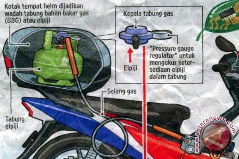 Siswa SMK Karawang modifikasi sepeda motor gas