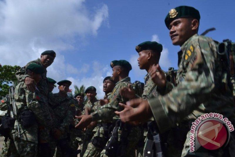 Penutupan patroli bersama patok perbatasan Indonesia-Malaysia