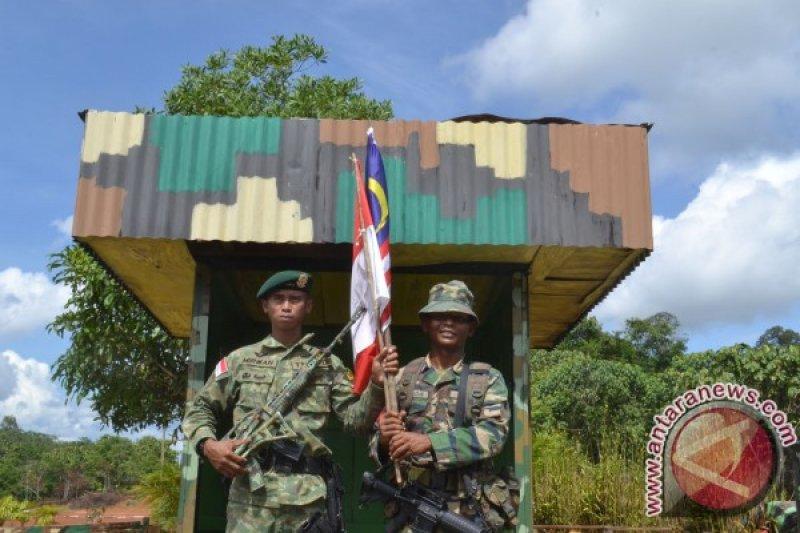 Patroli patok perbatasan Indonesia-Malaysia