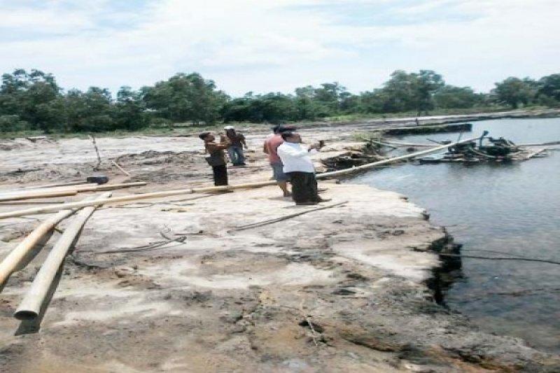 Kubangan bekas galian pasir diubah jadi kolam ikan