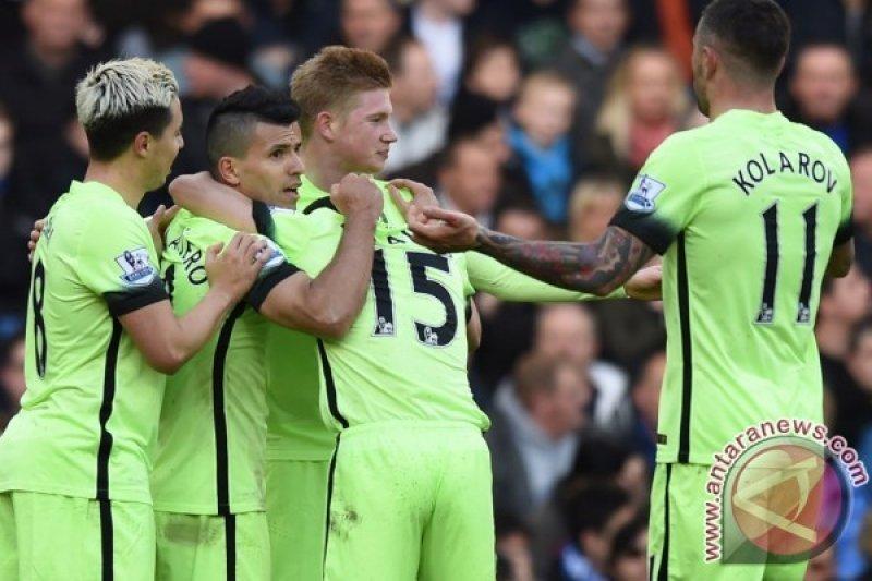 City Permalukan Chelsea 3-0, Aguero Cetak Tiga Gol
