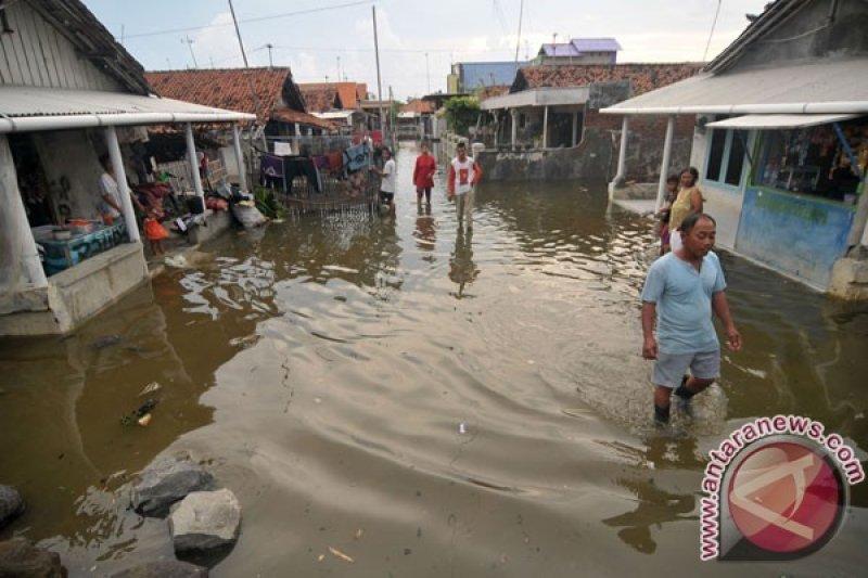 Puluhan kios dan rumah rusak diterjang air rob di Cianjur