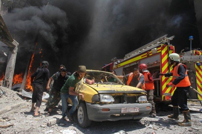 Pertahanan udara Suriah sukses cegat misil Israel