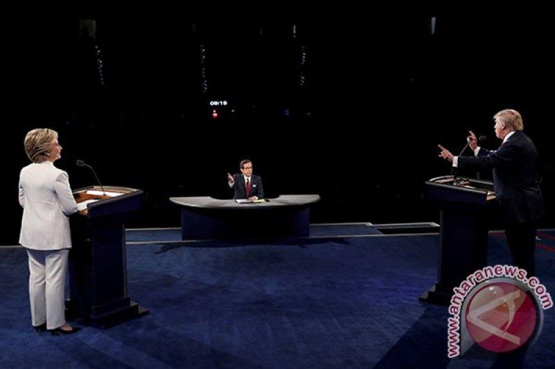 Debat terakhir juga dimenangkan Hillary, Trump dikatai