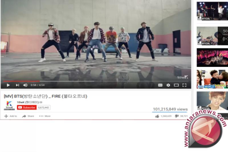 "Wow! Video BTS ""Fire"" Tembus 101 Juta Kali Ditonton"