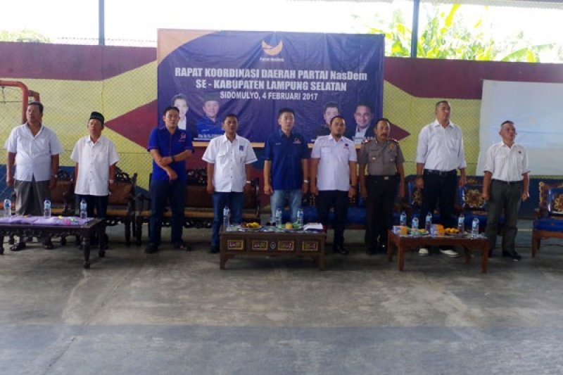 Partai NasDem Lampung Selatan Rakor Pemenangan