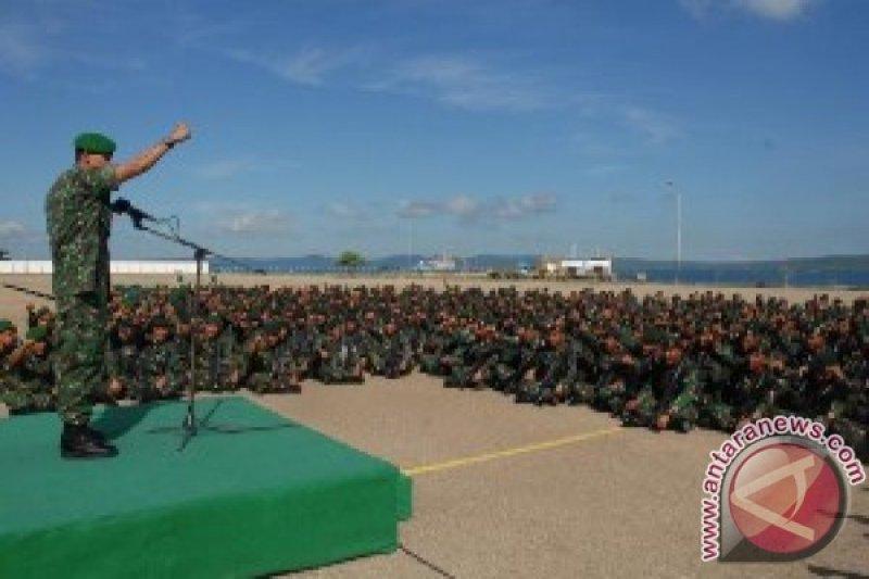 Pangdam Udayana Sambut Satgas Pamtas RI-Timor Leste