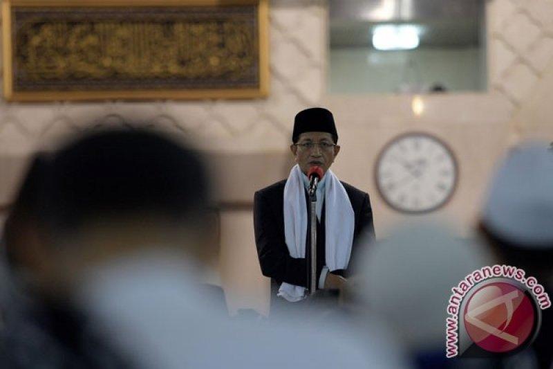 Imam Masjid Istiqlal jelaskan anjuran Nabi soal pelaksanaan ibadah di masa bencana