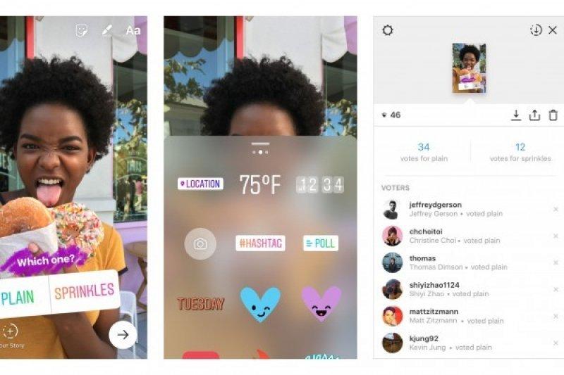 Instagram Perkenalkan Stiker polling di Stories, begini caranya