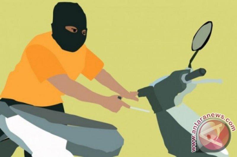 Maling gasak motor warga Desa Muara Gading Mas  Lampung Timur