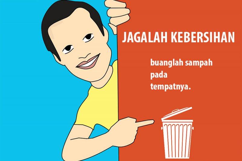 Buang sampah sembarangan langsung sidang di tempat