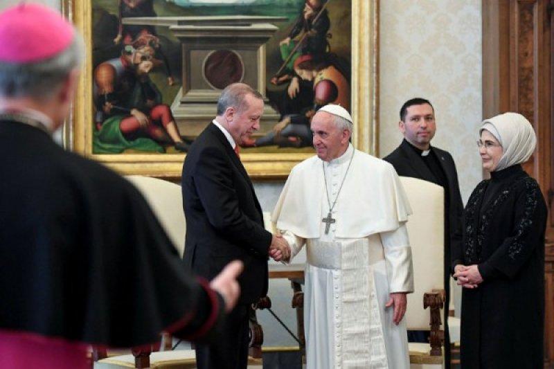 Presiden Turki minta Paus Fransiskus terus merespons kekerasan di Palestina