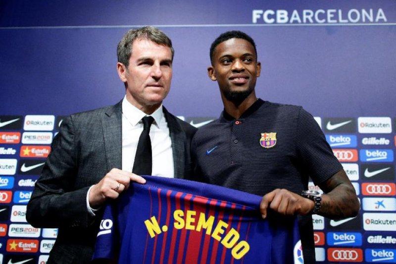 Barcelona siap melego Nelson Semedo dengan harga 50 juta euro