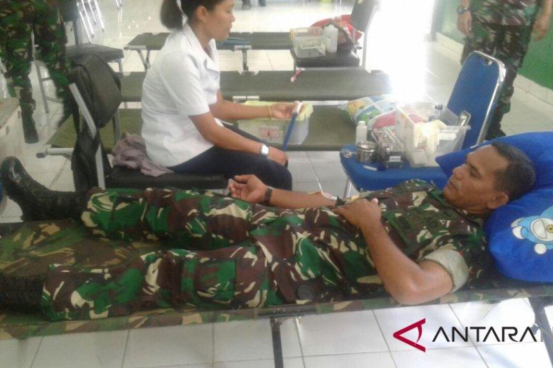 Brigif 21/Komodo gelar donor darah