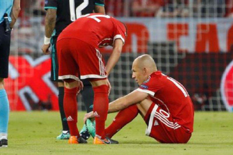 Dililit cedera Arjen Robben frustasi