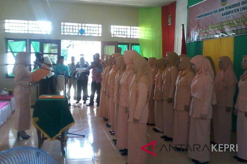 Dharma Wanita Persatuan Kabupaten Lingga resmi dilantik