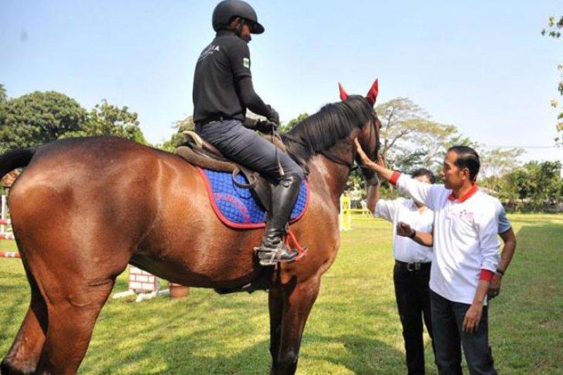 Presiden kunjungi atlet pelatnas berkuda Asian Games