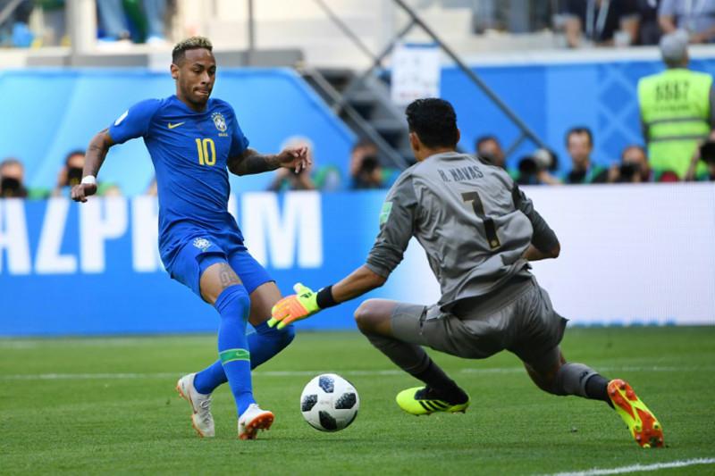 Brasil gilas Kosta Rika 2-0 berkat gol-gol di ujung laga